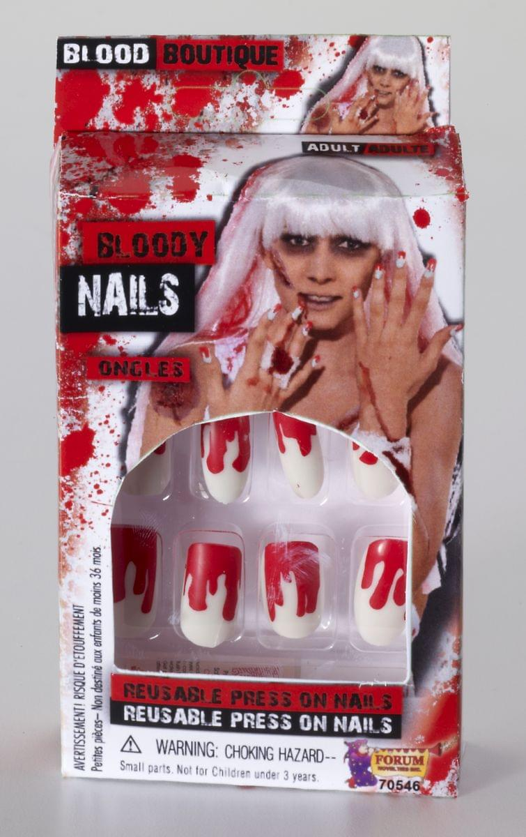 Bloody Press On Nails Costume Accessory One Size