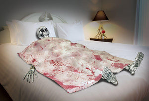 Bloody Death Bed Skeleton Halloween Party Decoration One Size