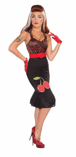 Retro Pin Up Girl Cherry Anne Costume Dress Adult