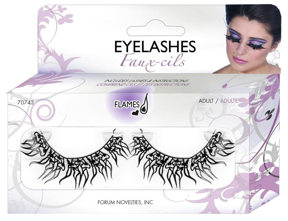 Flaming Hearts Costume Paper Eye Lashes One Size