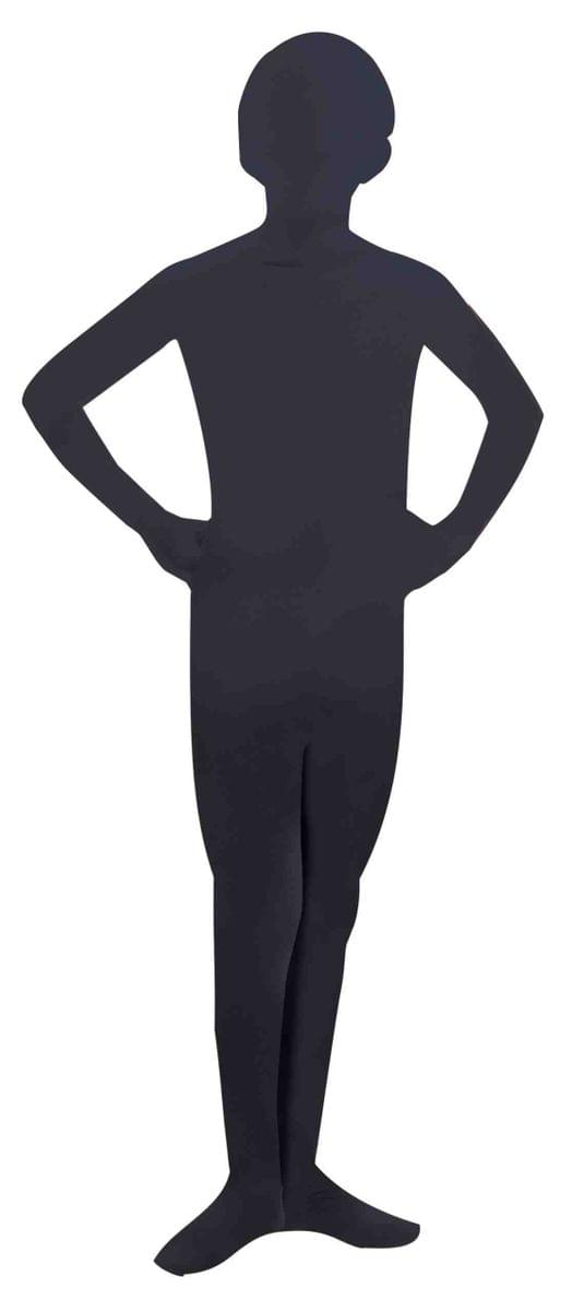 Disappearing Man Stretch Costume Jumpsuit Teen: Black