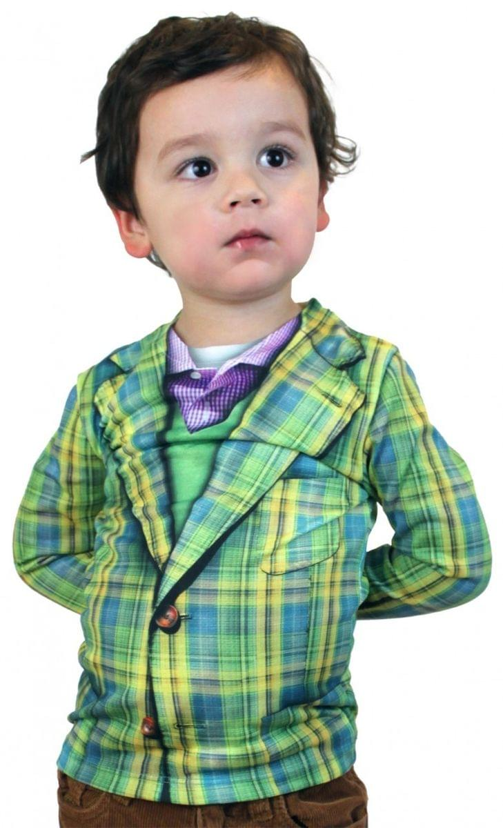 Faux Plaid Suit Costume T-Shirt Child