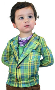 Faux Plaid Suit Costume T-Shirt Child X-Small