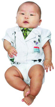 Load image into Gallery viewer, Faux Dr. Fever Ouchie Specialist Costume Romper Infant 6 Months