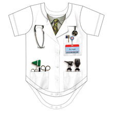 Load image into Gallery viewer, Faux Dr. Fever Ouchie Specialist Costume Romper Infant
