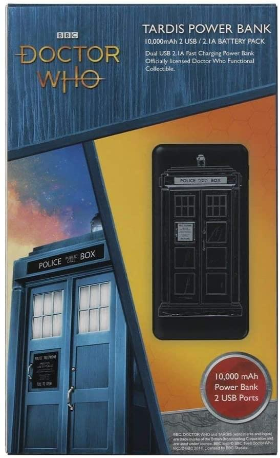 Doctor Who TARDIS 10,000mAh Power Bank with Dual 2.4A USB Charging Ports