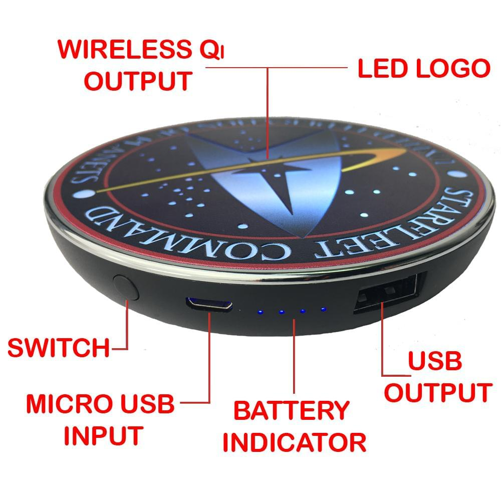 Star Trek Starfleet Command Qi Wireless Charger