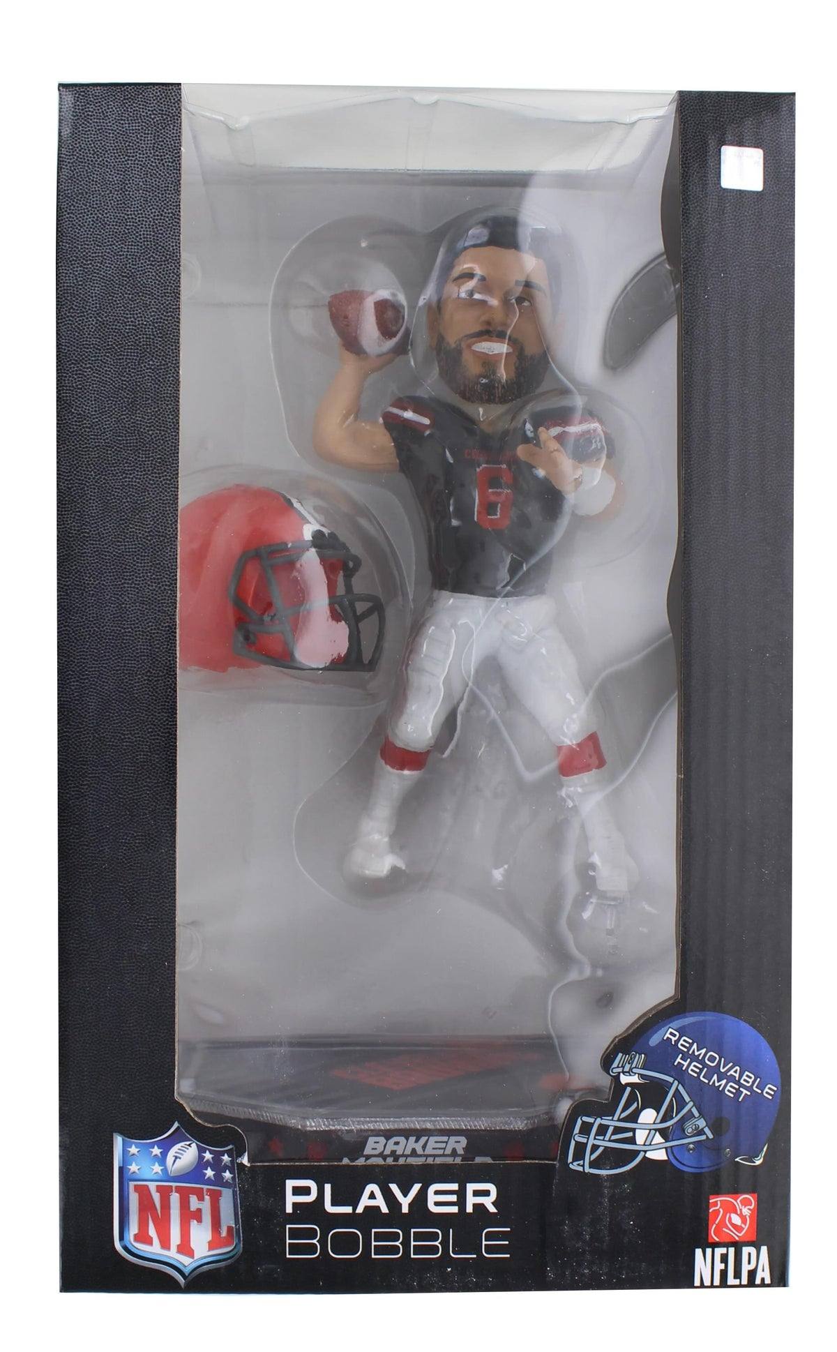 Cleveland Browns Baker Mayfield #6 Removable Helmet Base NFL Resin Bobblehead