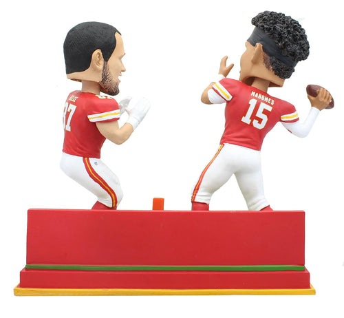 Kansas City Chiefs Patrick Mahomes & Travis Kelce Dual NFL Resin Bobblehead Set