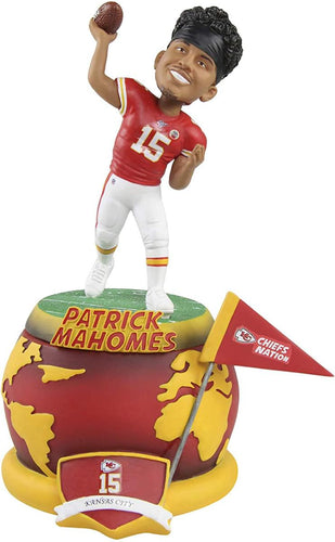 Kansas City Chiefs Patrick Mahomes #15 Spinning Base NFL Resin Bobblehead