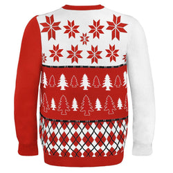 Nebraska Busy Block NCAA Ugly Sweater