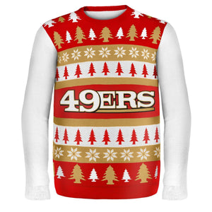 San Francisco 49Ers Wordmark NFL Ugly Sweater