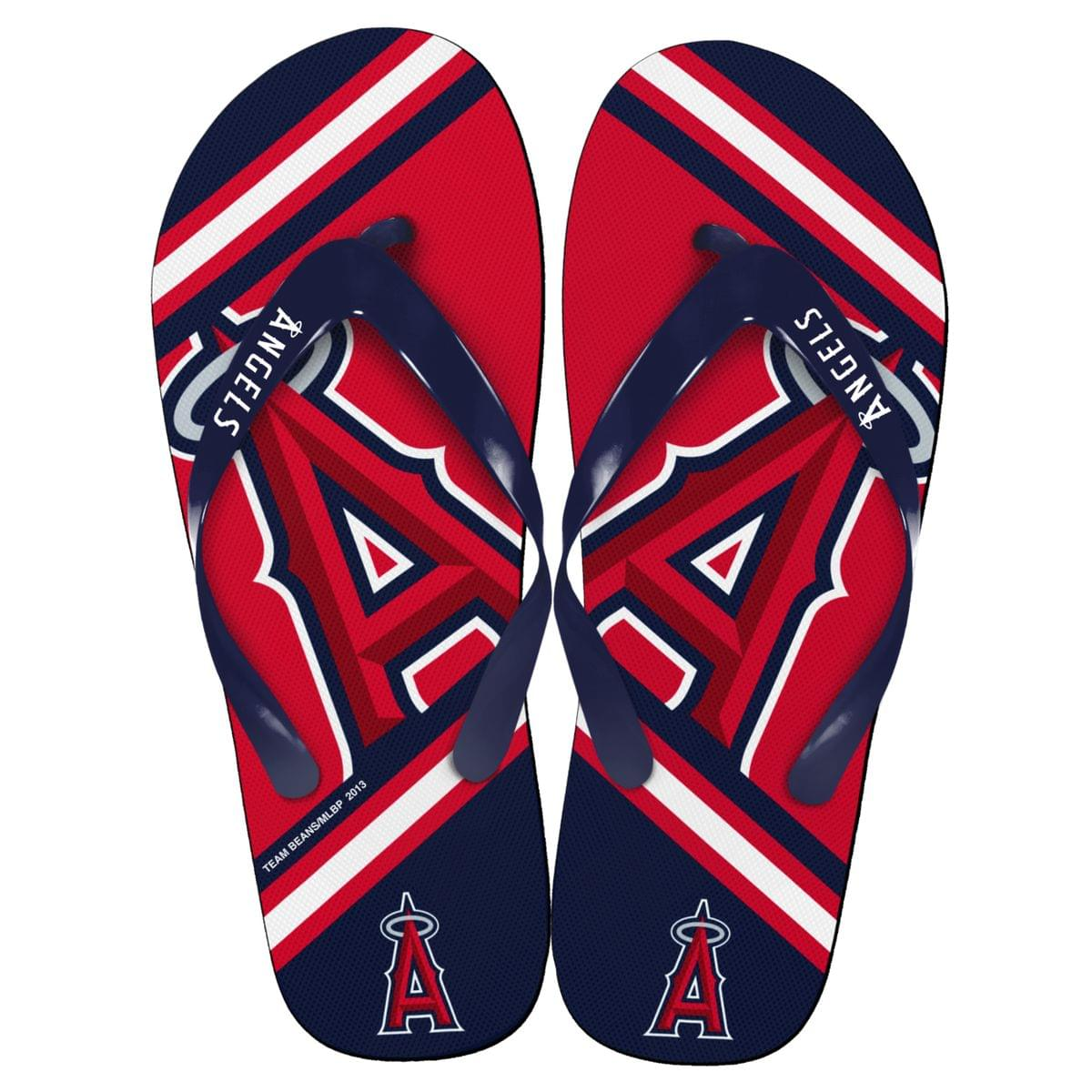 Los Angeles Angels MLB Unisex Big Logo Flip Flops