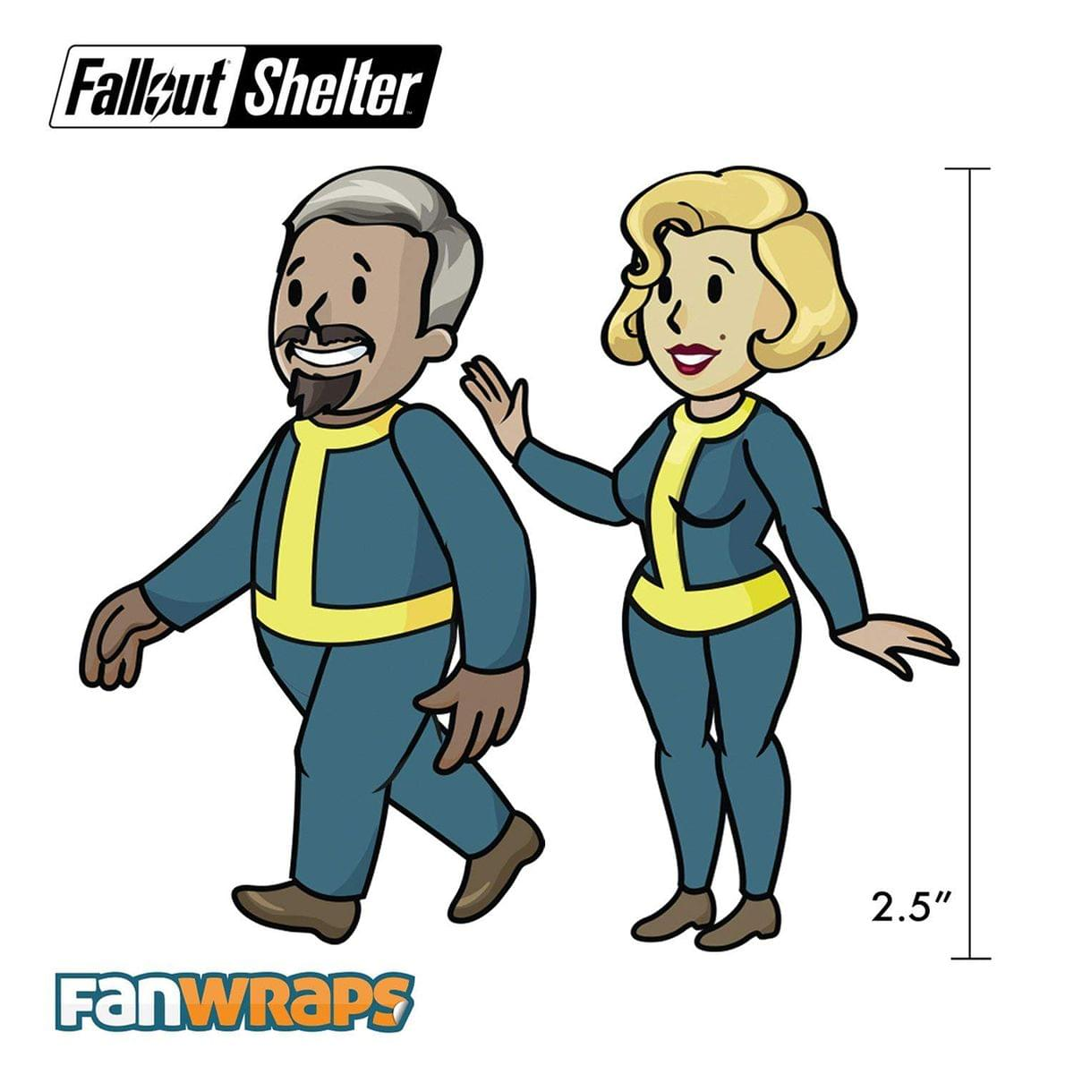 Fallout Shelter Vault-Tec Family Decals - 5 Sheets