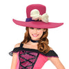 Flower Fedora Adult Foam Costume Hat - One Size