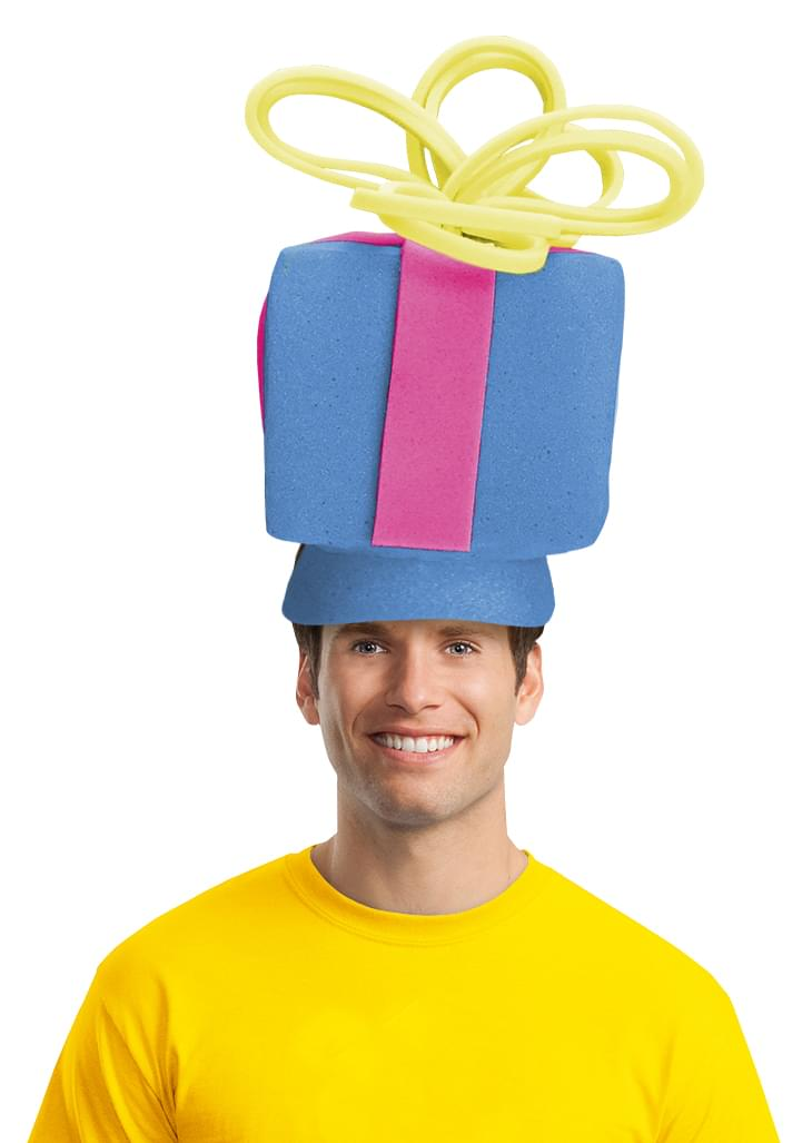 Present Adult Foam Costume Hat - One Size