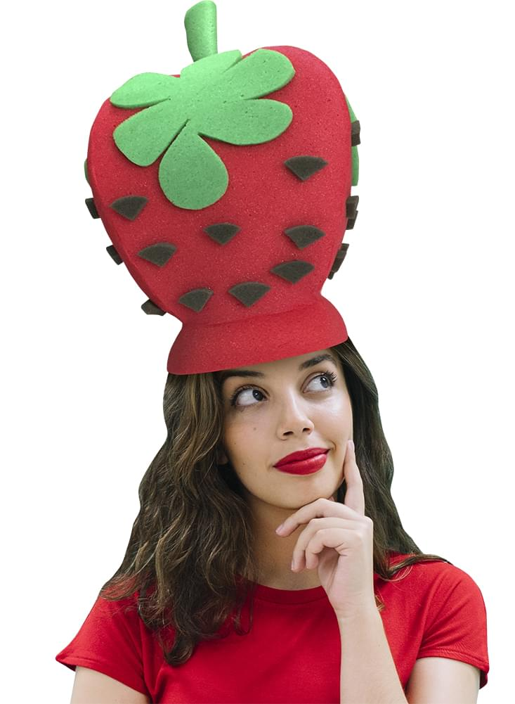 c30410f0029 Strawberry Adult Foam Costume Hat - One Size - Toynk Toys