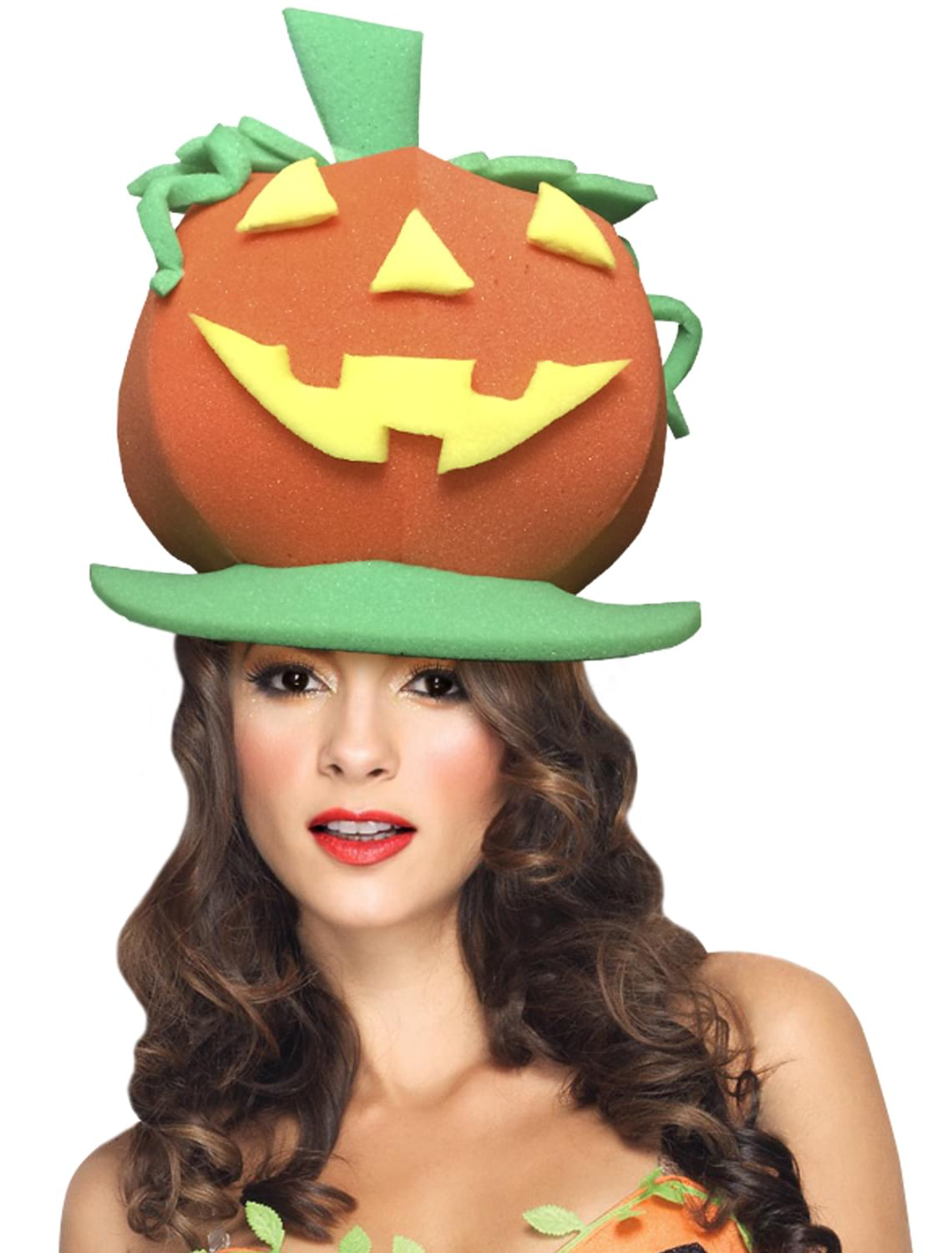 Funky Fresh Pumpkin Adult Foam Costume Hat