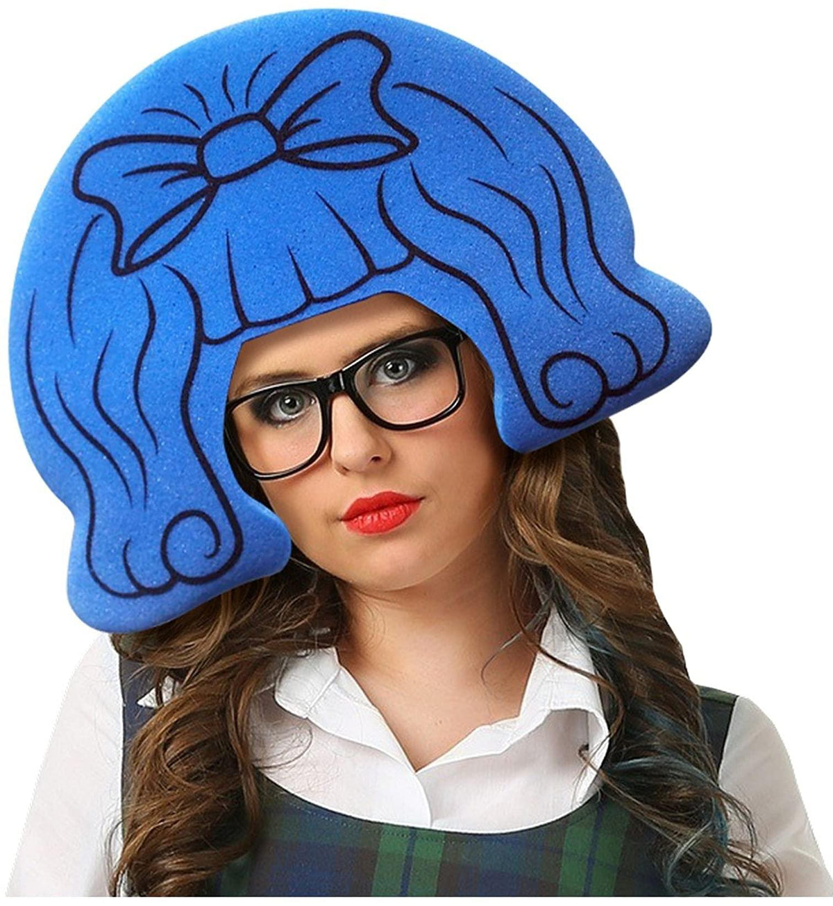 Funky Fresh Schoolgirl Adult Foam Costume Wig