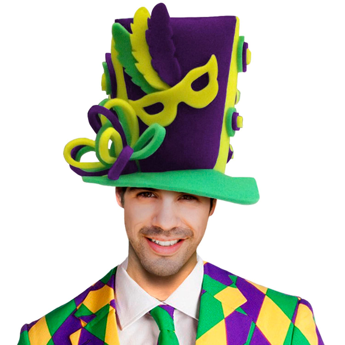 Funky Fresh Mardi Gras Adult Foam Costume Hat
