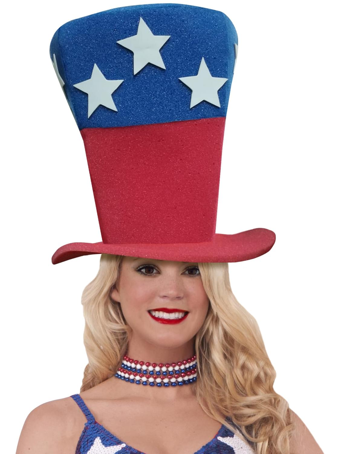Funky Fresh Patriotic Stars Adult Foam Costume Hat