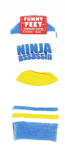 Funny Feet Toddler Socks: Ninja Assassin