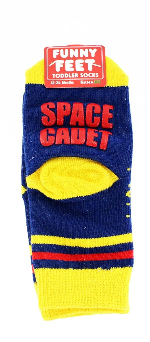 Funny Feet Toddler Socks: Space Cadet