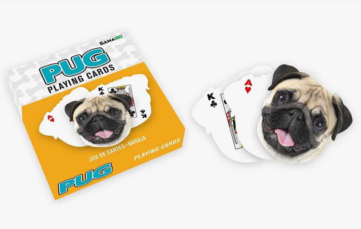 Pug-Shaped Playing Cards | 52 Card Deck + 2 Jokers