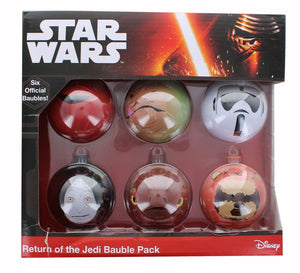 Star Wars Return of the Jedi Tin Holiday Tree Ornaments 6-Pack
