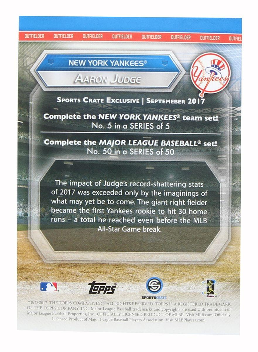 NY Yankees MLB Crate Exclusive Topps Card #50 - Aaron Judge