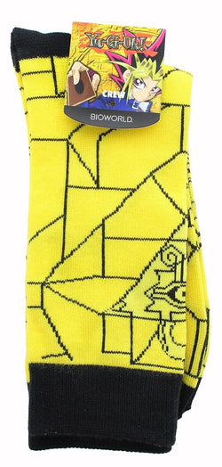 YuGiOh Yellow Pyramid of Light Men's Crew Socks