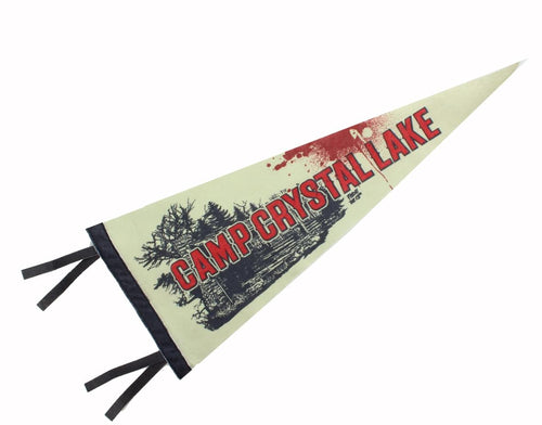 Friday the 13th Camp Crystal Lake 20-Inch Felt Pennant