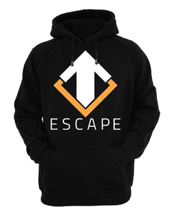 Escape Gaming Logo Men's Black Hoodie, Medium