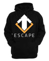 Escape Gaming Logo Men's Black Hoodie, Large