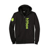 "Hitbox ""Hitbox Font"" Men's Black Zip-Up Hoodie"