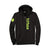 "Hitbox ""Hitbox Font"" Men's Black Zip-Up Hoodie, Medium"