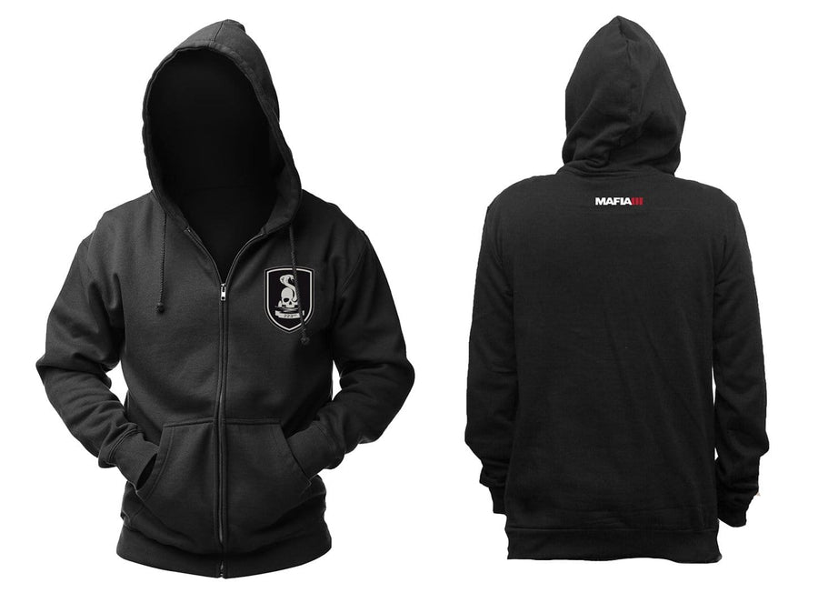 "Mafia III ""223rd"" Black Zip-Up Men's Hoodie, Large"
