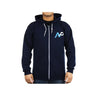 Team NP Logo Blue Zip-Up Men's Hoodie, Large