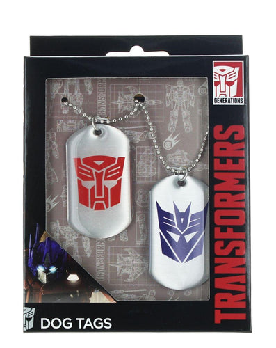 Transformers Autobot & Decepticon Logo Dog Tags