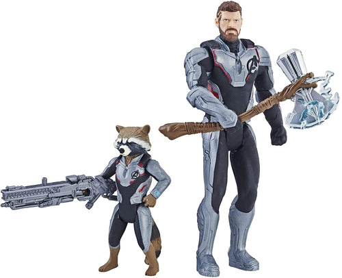 Marvel Avengers 6 Inch Action Figure Team Pack | Thor & Rocket Raccoon