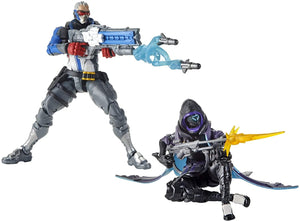 Overwatch Ultimates 6 Inch Action Figure Dual Pack | Ana Shrike & Soldier 76