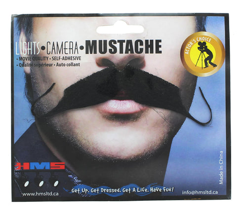 Aristocrat Black Synthetic Hair Adult Costume Moustache