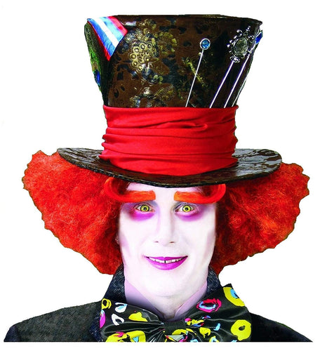 Alice In Wonderland Mad Hatter Orange Adult Costume Wig