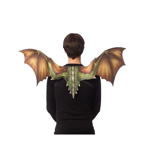 Soft Feel Dragon Wings Adult Costume Accessory, Green