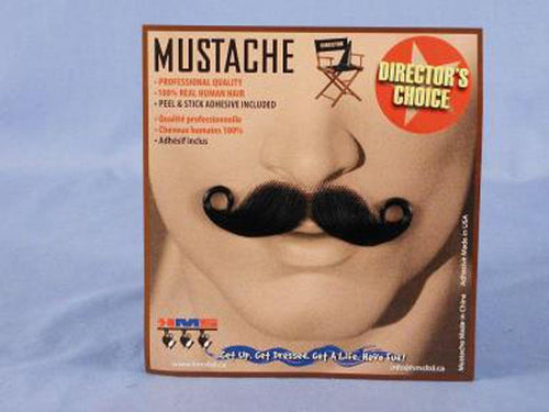 Barbershop Black Real Human Hair Adult Costume Moustache