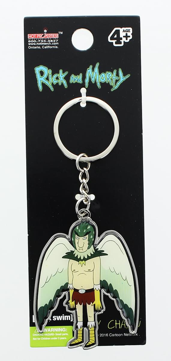 Rick and Morty Metal Keychain: Birdperson