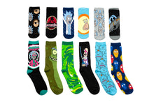 Load image into Gallery viewer, Rick and Morty 12 Days of Socks Gift Set for Men and Women | 6 Crew | 6 Ankle
