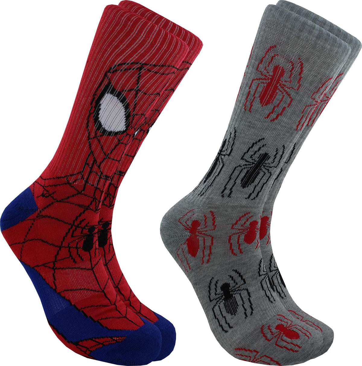 Marvel Spider-Man Mens Novelty Crew Socks | 2 Pairs
