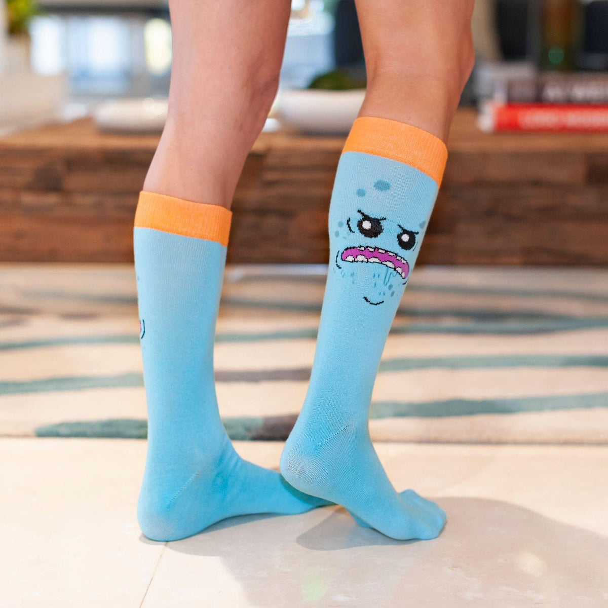 Rick and Morty collectibles | Toynk Toys Rick & Morty Mr. Meeseeks Crew Socks
