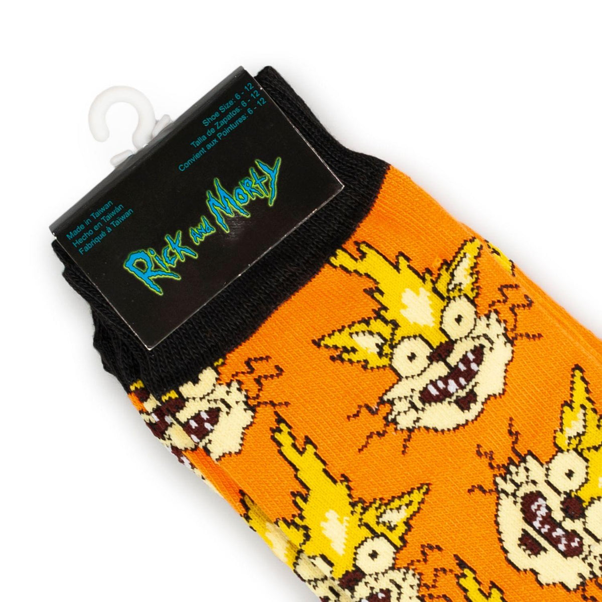 Rick and Morty Collectibles | Squanchy the Cat Orange Crew Socks